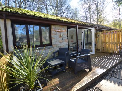 Photo for Comfortable bungalow in 100 acres of woodland, near St.Ives.