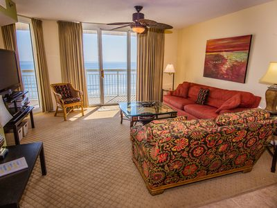 Photo for At the Beach the Weather is Better-OceanFront Crescent Shores End Unit Views!