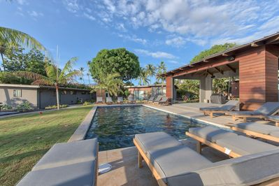 Access to the Villas By The Cove heated salt water swimming pool