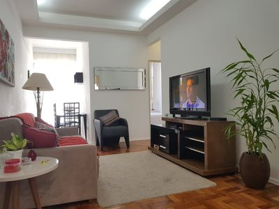Photo for Comfortable and silent 2 bedrooms apartment in the heart of Ipanema!