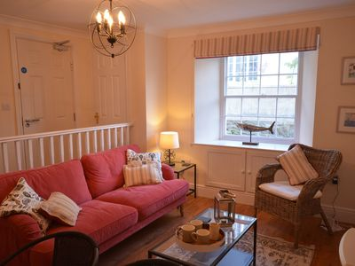 Photo for Fabulous 3 storey townhouse style apt in central Falmouth with courtyard garden.