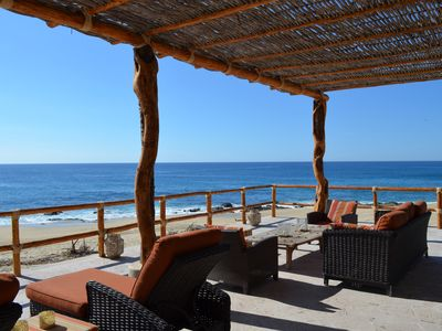 Photo for Spectacular Beachfront Home with Pool - Ventanas al Mar