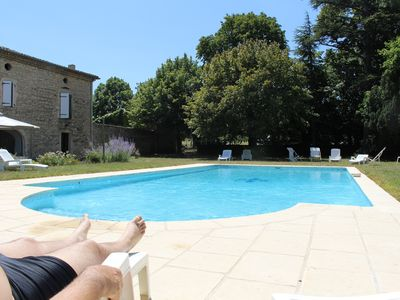 Photo for Mas converted into 4 bedrooms, swimming pool, inn. The 3 GIRLS, 2 people, Drôme Valley