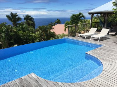 Photo for Sea view villa with infinity pool not overlooked ****