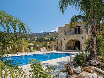 Photo for Rural stone villa w/ terrace + pool, close to fishing village w/ restaurants
