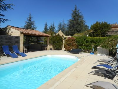 Photo for house on 4 Ha quiet with heated pool Gargas