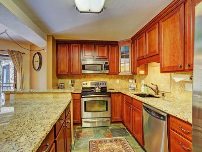 Photo for Awesome 2-Bedroom, Walk to Base of Peak 9/Town, Pool/Hot Tub - Powderhorn C202 by SkyRun