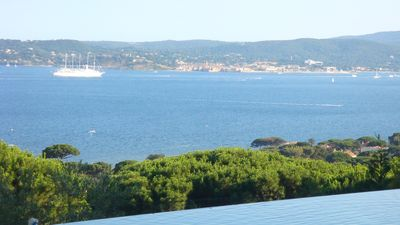 Photo for Luxury Provencal villa in Sainte Maxime, stunning view of sea and St. Tropez Poo