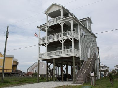 Photo for New 4 Bedroom 3.5 Bath that Sleeps 11 with an Elevator! Virtually on the Beach!