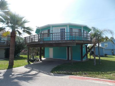 Photo for Beach Shak - Remodeled Port Aransas bungalow just steps from the pool!