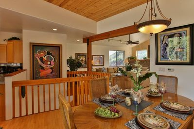 Enjoy home cooked meals in with your open concept dining room
