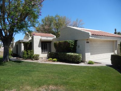 Photo for CCCC Condo on Golf Course - Quiet, Close to Palm Springs, Dog Friendly, Pool