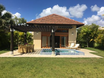 Photo for CAP CANA GREEN VILLAGE BUNGALOW PRIVATE POOL AND GRILL UP TO 50% OFF!