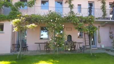 Photo for charming house with a garden, overlooking Lake Maggiore, 40 min from Milan