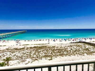 Photo for Beautiful vacation getaway with gulf front view. Summerwinds 403E