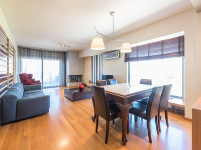 Photo for Luxury 2 bdr apt with sea view in Glyfada