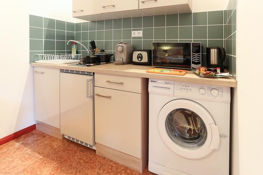 Washing Machine For Studio Apartment Studio Apartment In Vienna With Air  Conditioning Terrace