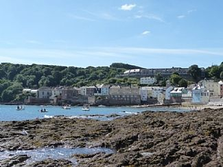 The cottage from the rockpools