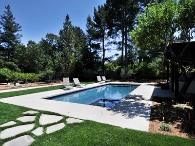 Photo for Spectacular grounds, new house, Pool, SPA, near Sonoma square, next to wineries!