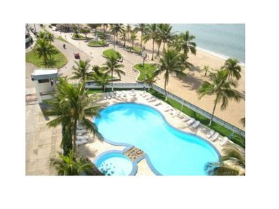 Photo for Apartment Duplex Penthouse, sea front, up to 10 people, 3 beds, pool, barbecue