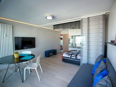 "Photo for ""Equus Mare"" Modern apartment ""studio"" with sea view"