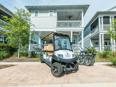 Photo for All of 2020 Rate Reduced! 6 Seater Golf Cart, 2 POOLS, Beach ~ Coastal Flyte at Naturewalk 30A