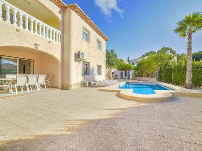 Photo for 8 bedroom Villa, sleeps 16 with Air Con, FREE WiFi and Walk to Beach & Shops