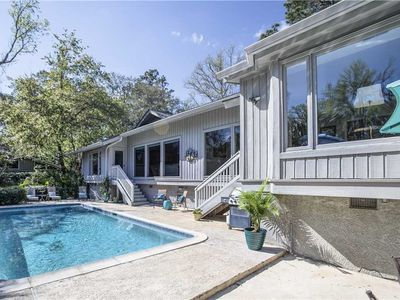 Photo for 11 St. Andrews Place | Lagoon & Harbour Town Views | Private Pool | Dog Friendly | Sea Pines