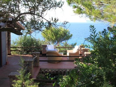 Photo for VILLA ON THE SEA WITH SWIMMING POOL AND PRIVATE ACCESS TO THE SEA
