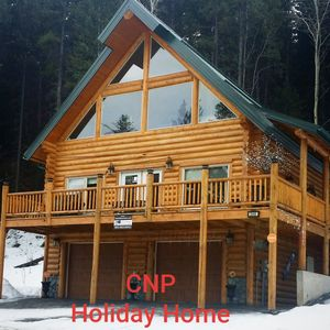 Photo for Picturesque Mountain view New Log Chalet  *6&7th Night Free!
