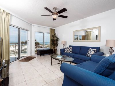 Photo for Beautiful Unit Sleeping 6! Great Amenities, Direct Beach Access, Nearby Shopping and Dining!