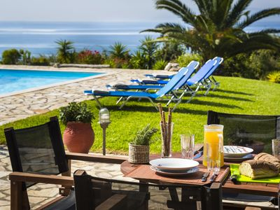 Photo for Villa Mariza - Trapezaki. Private Villa  Overlooking the Sea.