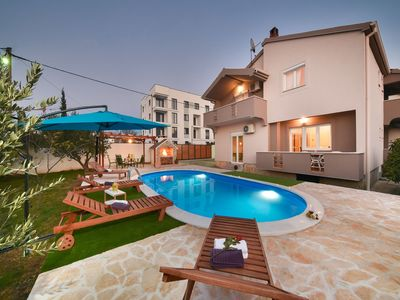 Photo for Modern two storey house with private pool, nice fenced garden, terrace, BBQ