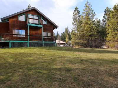 Photo for Dog-friendly cabin w/ shared pool and hot tub plus wrap-around porch & deck