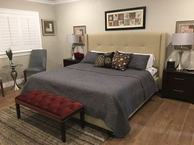 Master Bedroom with King bed set.