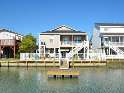 Photo for Sea La Vie, Luxury Channel Home in Cherry Grove, Beautiful Waterfront Pool Area