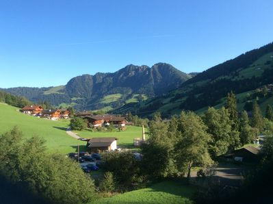 View from the chalet in summer