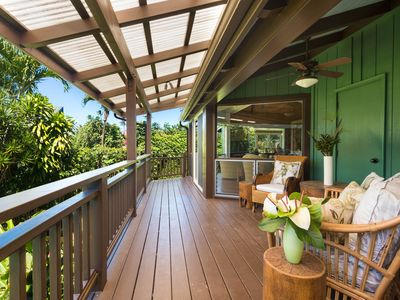 Photo for NEW LISTING! Beautiful home w/ lanai, central location & easy beach access!