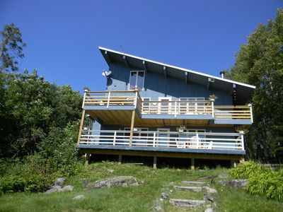 Photo for 4 bedroom Home with 2 decks for panoramic views and dock access to Daisy Bay