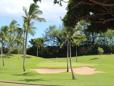 Photo for Located on 3rd Green of Ko'olina Golf Course! 3 bed/2-1/2 bath 2 Car Garage
