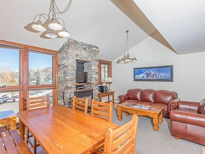 Photo for Comfortable, Light Classic Ski Condo With 90's Feel