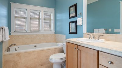 Bathroom with Tub and Walk in Shower