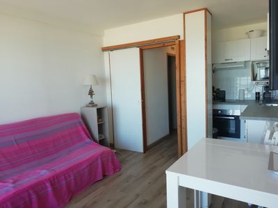 Photo for NEW! Ocean view, beach on foot, shared swimming pool, private parking!