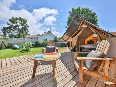 Photo for Glamping holiday rental Saint-Jean-de-Monts between Land & Sea
