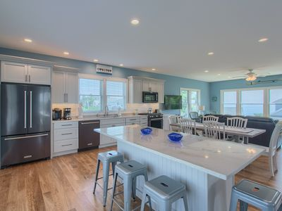 """Photo for Walk to beach from gorgeous new home, """"accessible"""" with elevator and ocean views"""