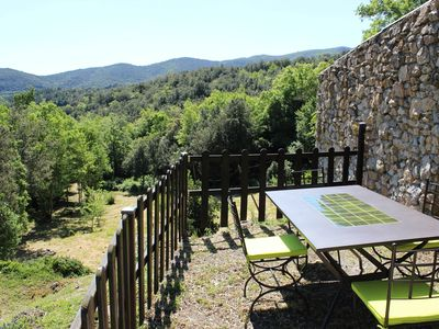 Photo for Cottage with WIFI terrace / garden - beautiful view - middle nature -Country Cathar