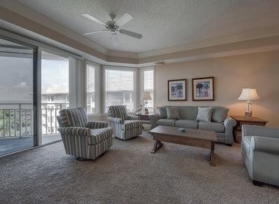 Living Room with Ocean Views at 2502 Sea Crest