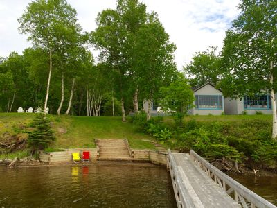 Photo for Lakeside Boat Cottage with Dock on Baddeck Bay