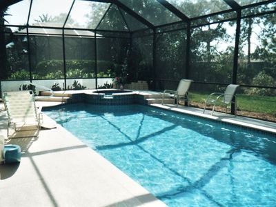 36 foot long heated pool with spa.  Swim laps or just relax!