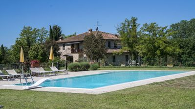 Photo for CHARMING APARTMENT WITH SWIMMING POOL 35 KM FLORENCE, 20 KM SIENA, 12 KM CHIANTI